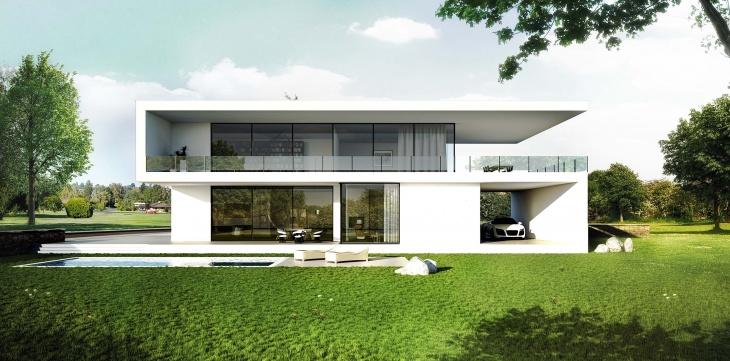 Einfamilienhaus Bauhausstil Architektur Modern Einfamilienhaus 3d