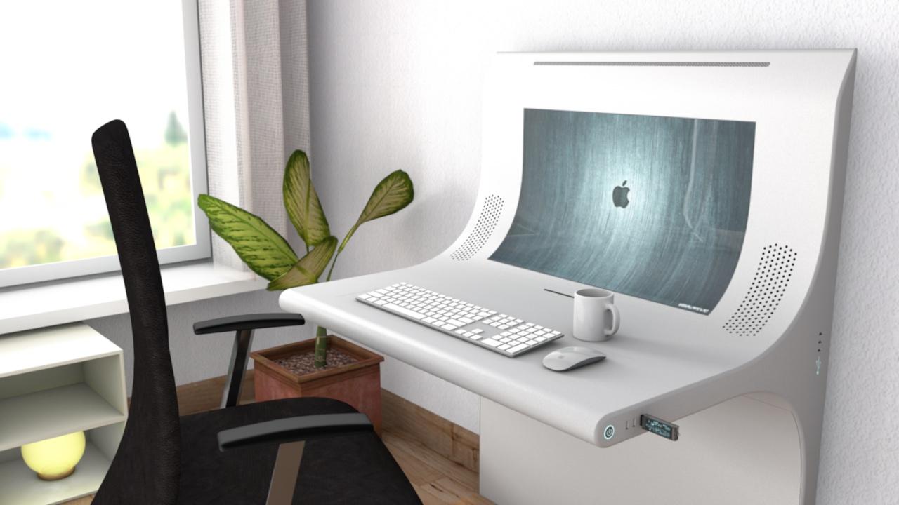 Schreibtisch design apple  Schreibtisch der neuen Generation_WIP, Cinema 4D WIP Schreibtisch ...