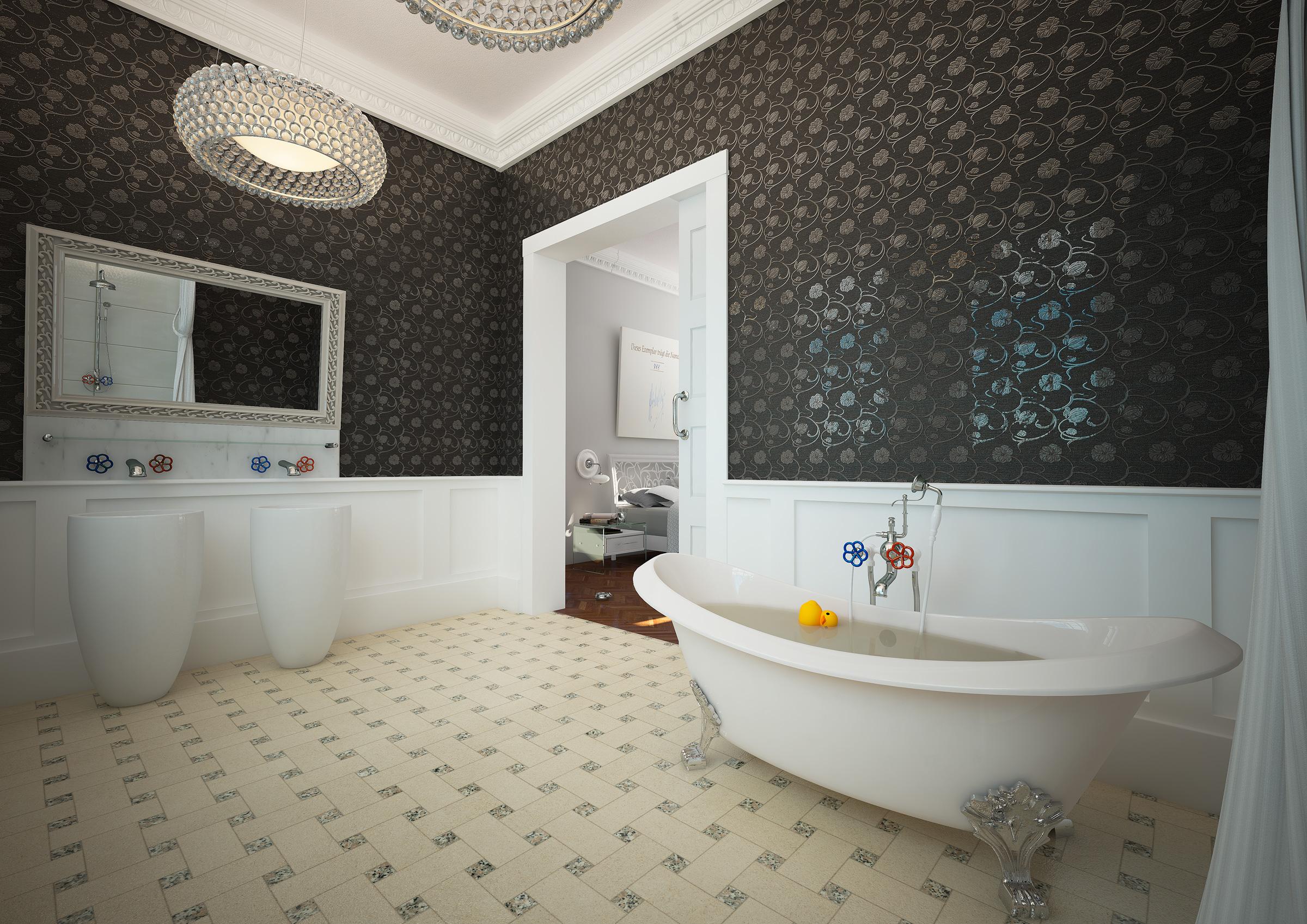 baden - altbau - 3d-ring.de, Badezimmer