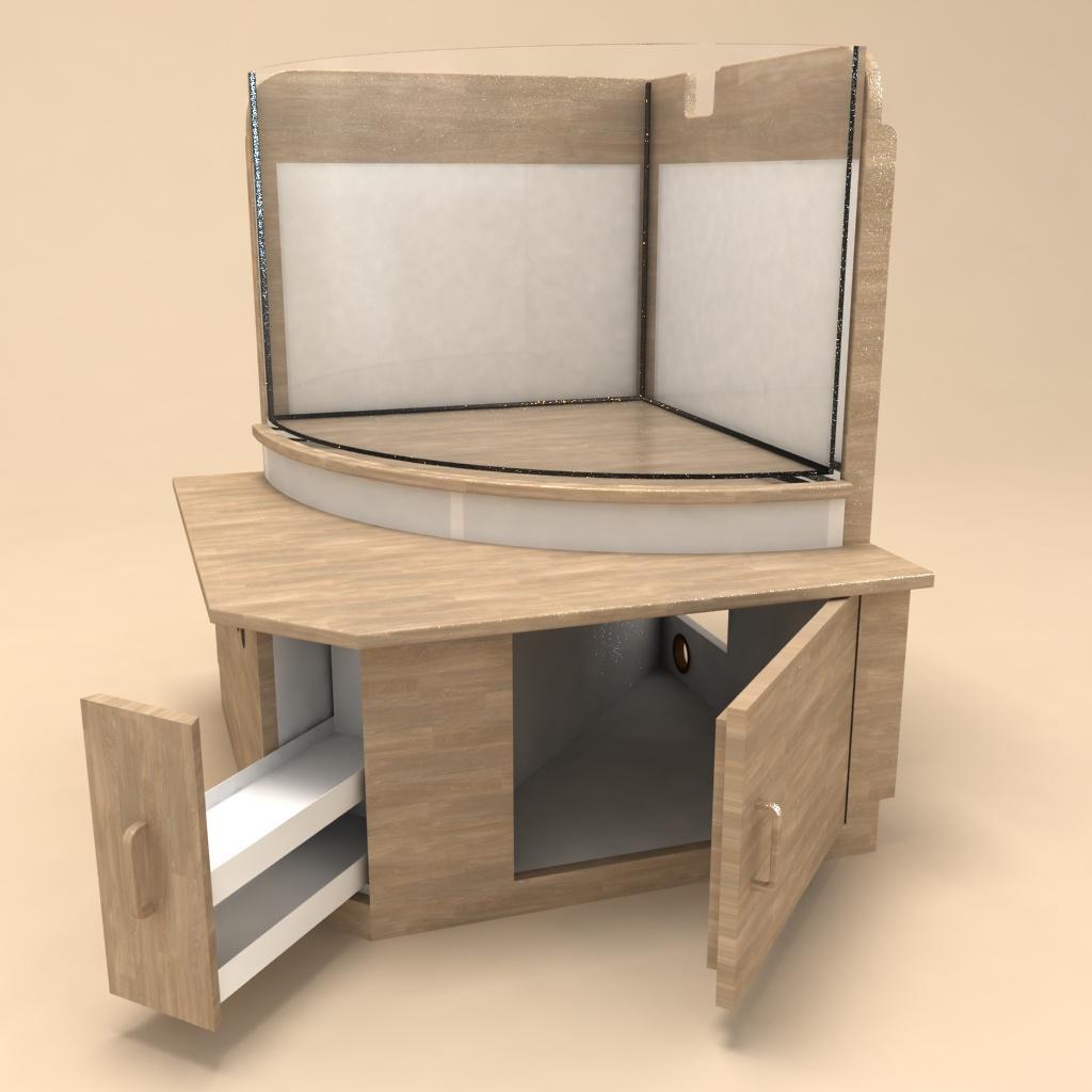 Projekt Eckaquarium, 3ds max Vray Aquarium - 3D-Ring.de