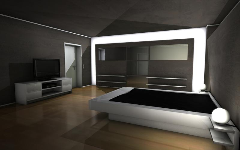 day and night schlafzimmer cinema 4d 3d. Black Bedroom Furniture Sets. Home Design Ideas