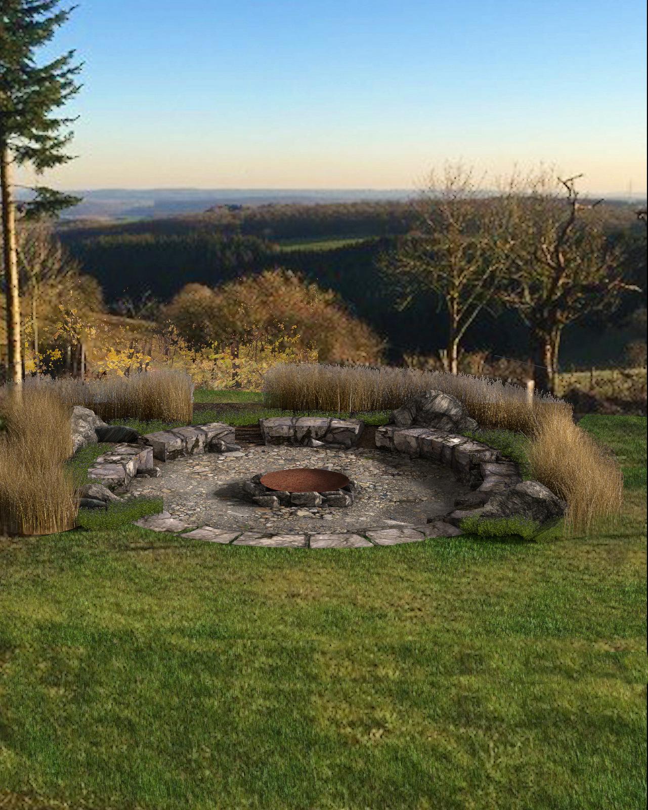 Feuerstelle Naturgarten 3d Ring De